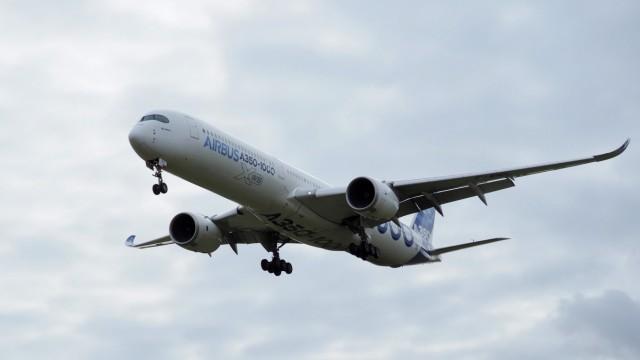 Ein Airbus A350 bei einem Testflug im Februar 2019