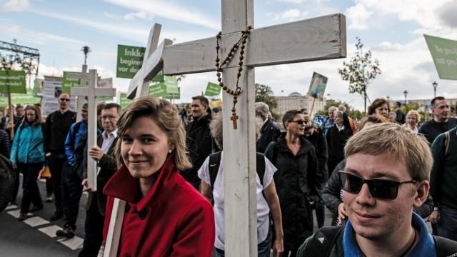 Demonstrationen für und gegen das Recht auf Abtreibung