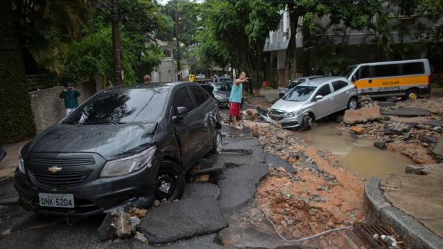 Naturkatastrophe Unwetter in Brasilien