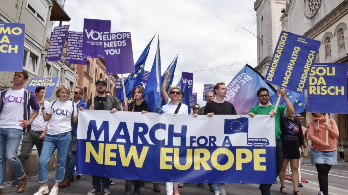 """March for a new Europe"" in München, 2018"