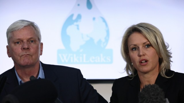 Representatives Of Wikileaks And Assange's Lawyers Hold A Press Conference