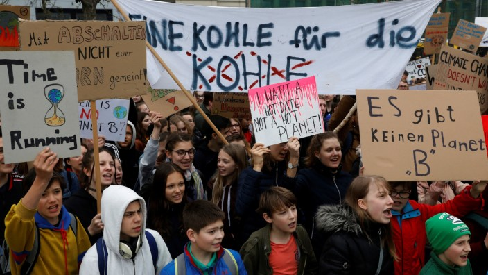 'Fridays for Future' protest claiming for urgent measures to combat climate change