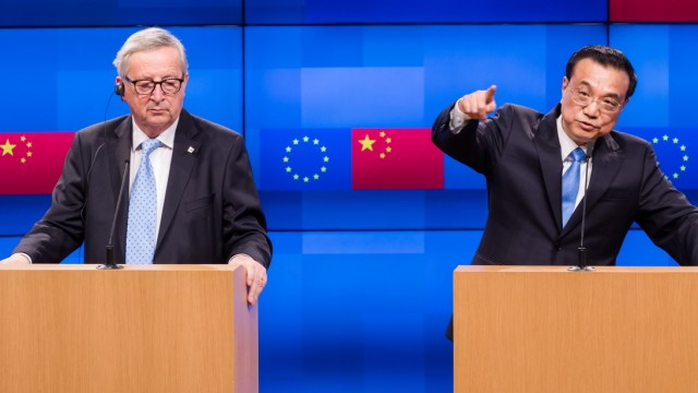 China's Premier Li Keqiang at EU-China Trade Summit