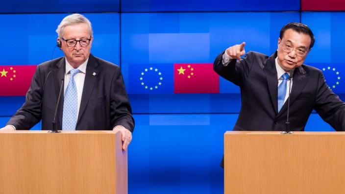 China's Premier Li Keqiang at EU-China Trade Summit