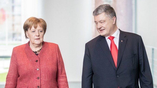 Kanzlerin Merkel empfängt Poroschenko