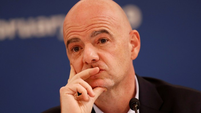 FILE PHOTO: FIFA President Gianni Infantino Media Briefing