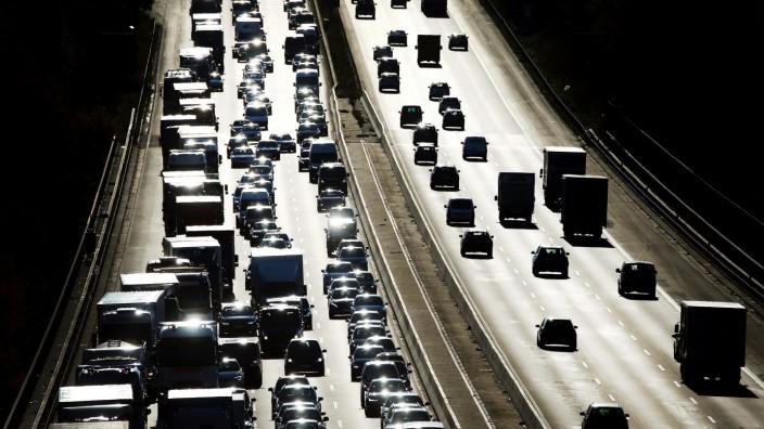 Stau auf Autobahn
