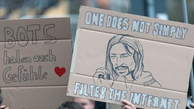 Demo gegen Urheberrechtsreform in Dresden