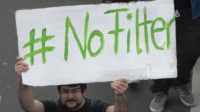 Protest gegen neues Urheberrecht