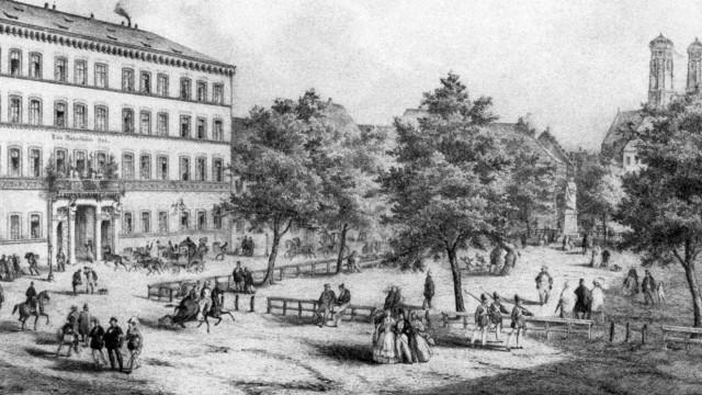 Hotel Bayerischer Hof in München, 1850