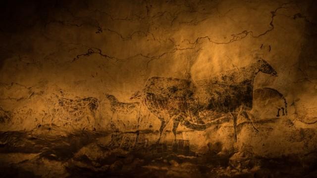 Ausstellung Lascaux - Die Bilderwelt der Eiszeit in der kleinen Olympiahalle