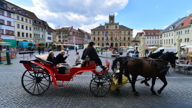 Blauer Himmel in Thüringen