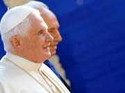 Besuch in Israel: Papst Benedikt XVI. und Israels Präsident Shimon Peres.