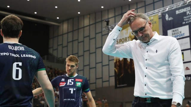 VOLLEYBALL VBL Tirol vs Berlin INNSBRUCK AUSTRIA 17 APR 19 VOLLEYBALL VBL semifinal Hypo T