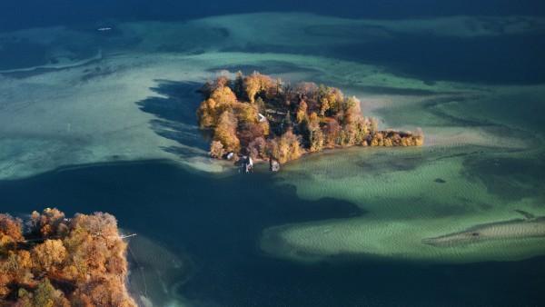 Starnberger See Roseninsel Luftbild
