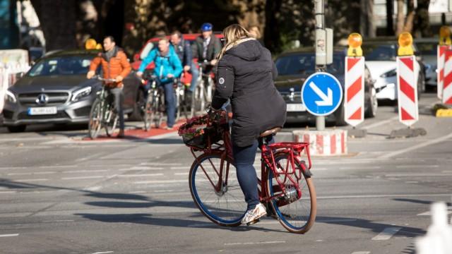 Radfahrer Baustelle Sendlinger Tor