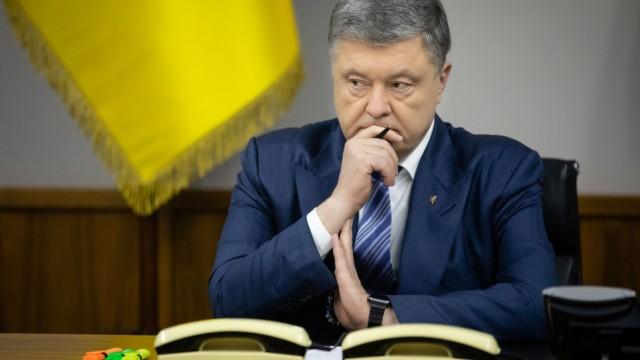 Ukraine's President Petro Poroshenko attends the Security Council meeting in Kiev