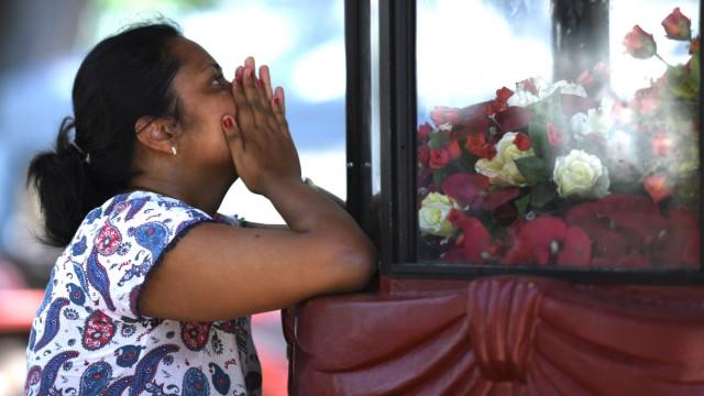 Trauernde in Sri Lanka