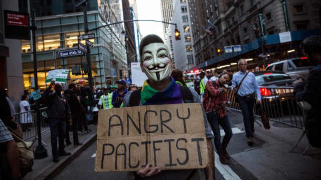 Occupy Wall Street Activists Mark 2 Year Anniversary Of Movement