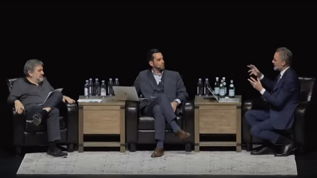 SCREENSHOT YouTube Peterson/ Žižek in der Diskussion