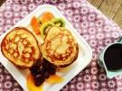 Rezept Ricotta Frischkaese Pancakes Obst Joghurt Marmelade Ahornsirup Honig Spec