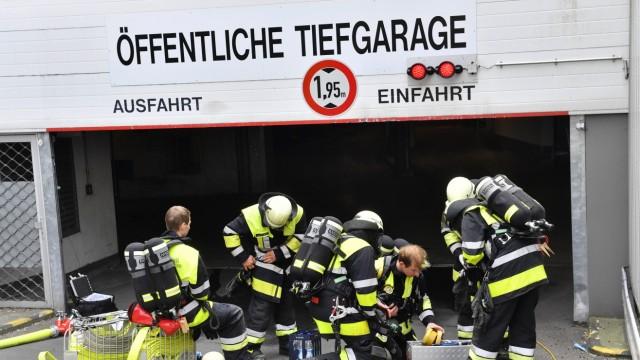 Starnberg, Feuer in der Sparkasse