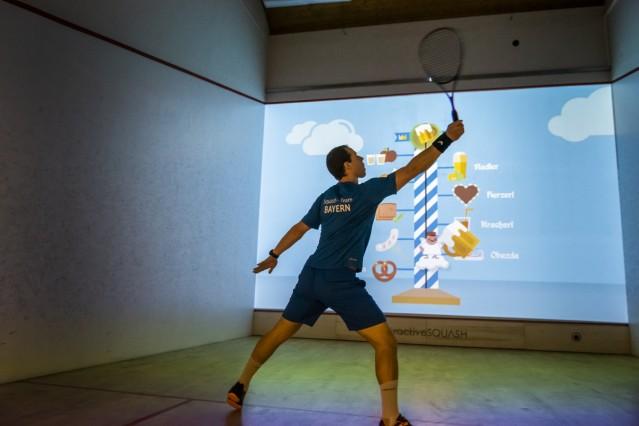 Taufkirchen, Sportinsel mit interaktivem Squash, Rudi Rohrmüller, Bundesliga-Spieler,