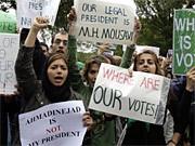 Iran Präsidentschaftswahl Proteste Unruhen Teheran, AP