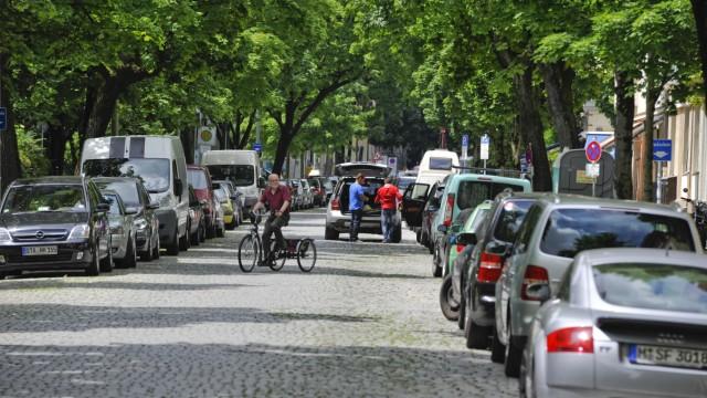 Untersendling Valleystraße Radfahrer