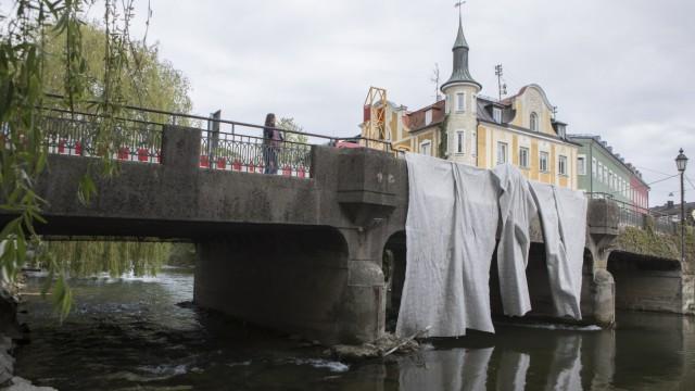 Gesperrte Amperbrücke