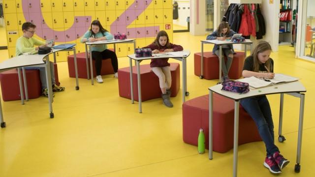 Das Münchner Lernhaus-Konzept in der Artur-Kutscher-Realschule, Gerastraße 6, in Moosach.