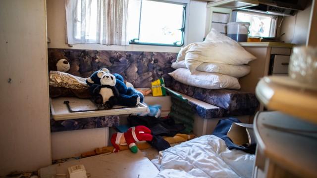 Abriss der Parzelle auf dem Campingplatz in Lügde