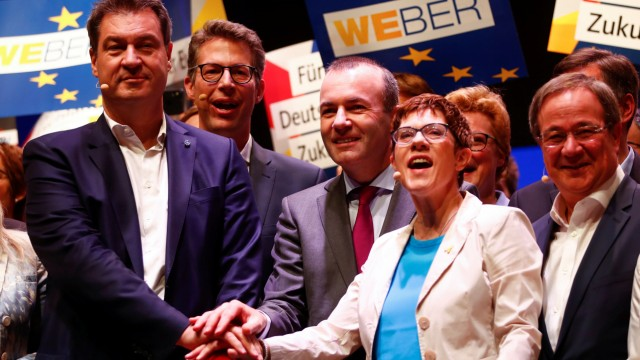 CDU and CSU gather to kickoff their campaign for the upcoming European elections in Muenster