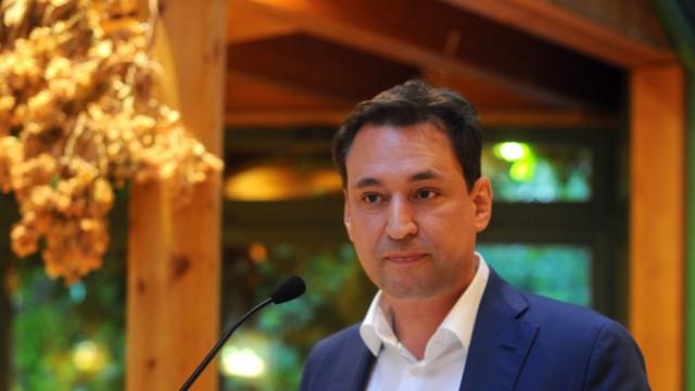 Georg Eisenreich im Landtagswahlkampf in München, 2018