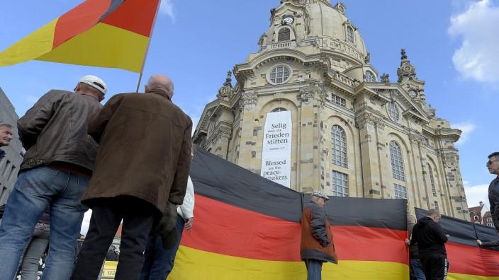 Pegida-Demonstration in Dresden im Oktober 2018