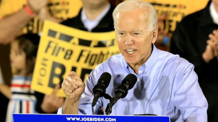 Joe Biden bei einem Wahlkampfauftritt in Pittsburgh