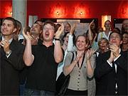 Jubel bei der SPD in Brandenburg; ddp