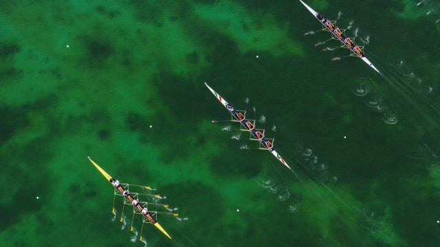 Germany Oberschleissheim Rowing boats on Olympic Regatta Course PUBLICATIONxINxGERxSUIxAUTxHUNxONL