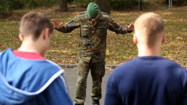 New Recruits Arrive At Bundeswehr Barracks