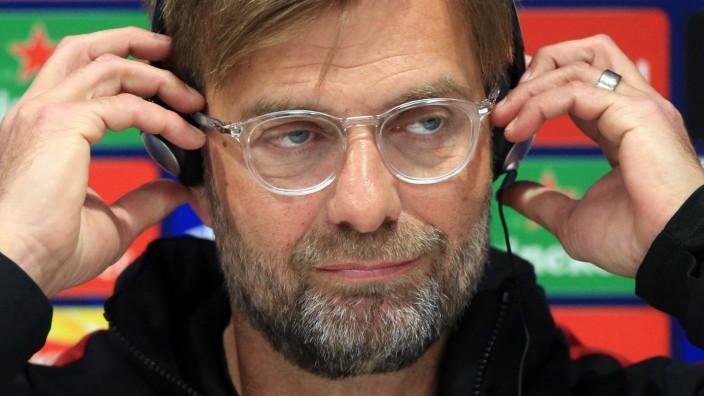 FC Liverpool - Trainer Jürgen Klopp bei einer Pressekonferenz