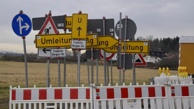 Verkehrszeichen Straßensperrung
