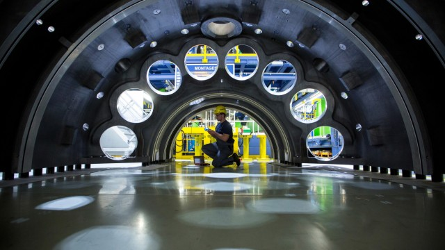 Manufacturing Operations Inside Siemens AG Gas Turbine Factory