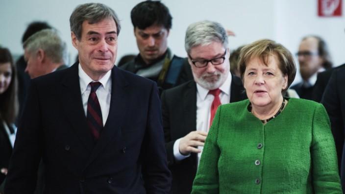 Spitzengespräch der Deutschen Wirtschaft mit Merkel