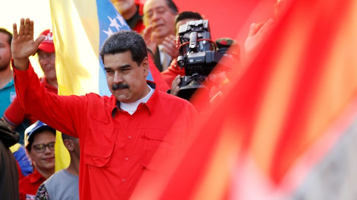 Venezuela's President Maduro attends a rally in Caracas