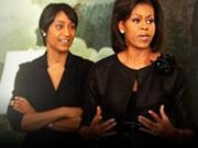 Desirée Rogers, Michelle Obama; AP