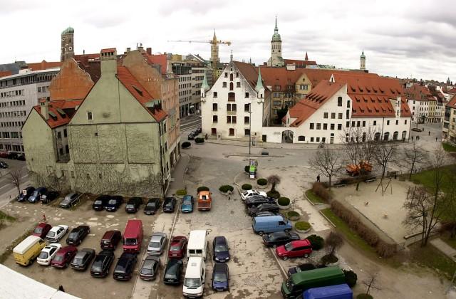 Jakobsplatz mit Blick auf das Stadtmuseum in München, 2001