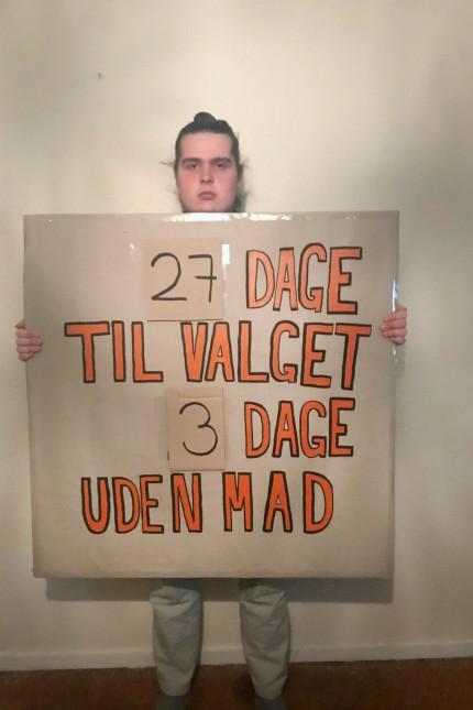 Mikkel Brix Dänemark Hungerstreik Klima