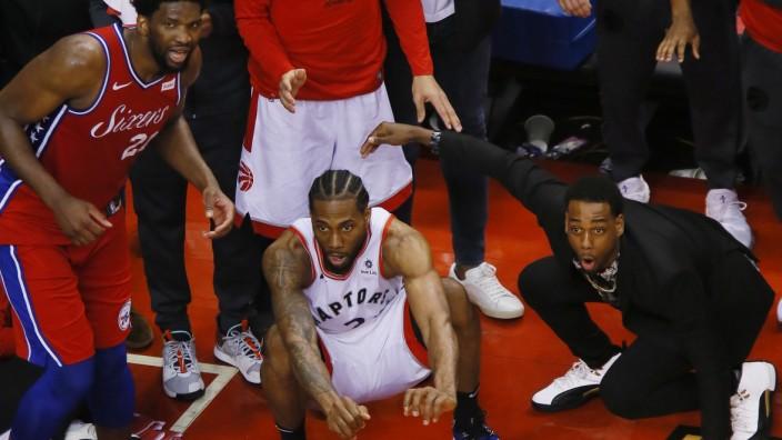 NBA - Kawhi Leonard von den Toronto Raptors im Playoff-Spiel gegen die Philadelphia 76ers