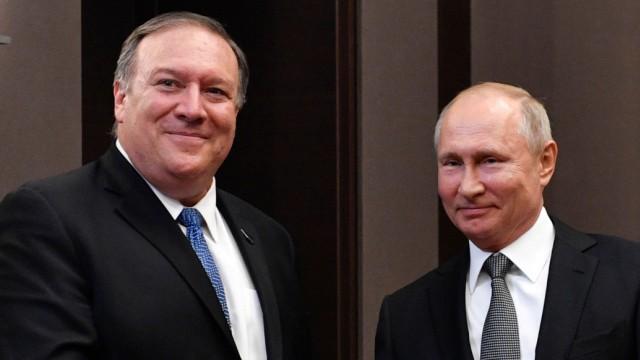 Mike Pompeo, Wladimir Putin