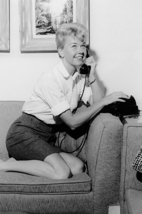 Actor and singer Doris Day poses at the Sahara Hotel-Casino in Las Vegas